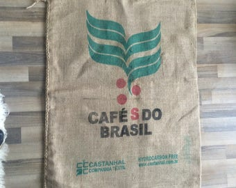 Vintage French Cafes Do Brasil coffee sack