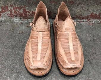 DOBLE PREMIUM STYLE mexican sandals men's huaraches mexicanos genuine leather cuero autentico handmade