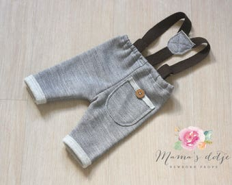 Newborn boys pants with braces