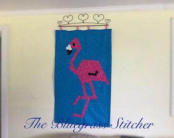 Flamingo English Paper Piecing Pattern