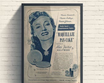 "Evelyn Keyes Max Factor ""Pan Cake"""