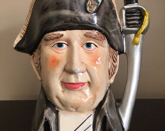 Vintage American Revolution Soldier Ceramic Vase Head