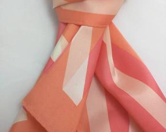 Blushing Pinks - lovely retro silk scarf - headscarf