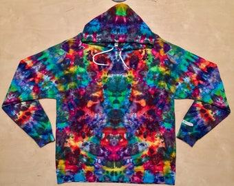 XL Kaleidoscopic Apparel tie dye hoodie