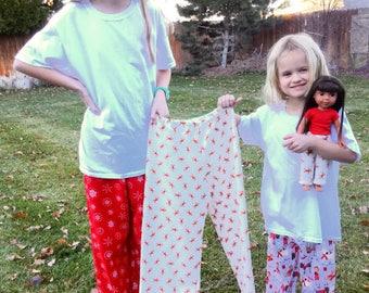 Christmas pajamas for girls and boys, pajamas, knit pajamas, winter pajamas, kids pajamas, pj pants, pajama pants