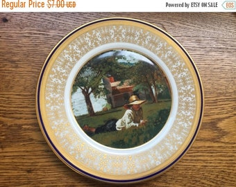 "U.S Bicentennial Society Collector plate Homer Winslow ""The Nooning"" Lenox"