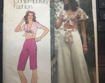 Vintage 70s Simplicity 5695 Separates Pattern-Size 12 (34-26 1/2-36)