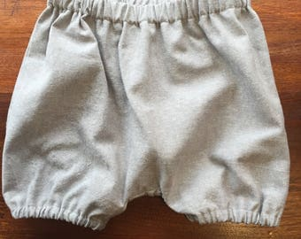 Bloomers - Gray Linen