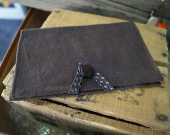 dark brown tobacco pouch