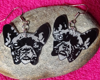 """french bulldog"" earrings"