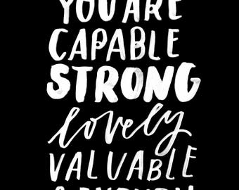 You Are Capable Poster