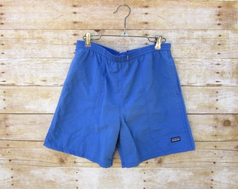 Vintage Blue Patagonia Shorts -  5 Inch Inseam Swim Trunks Size XS SMALL
