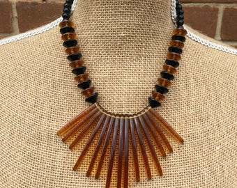 Faux amber shards necklace