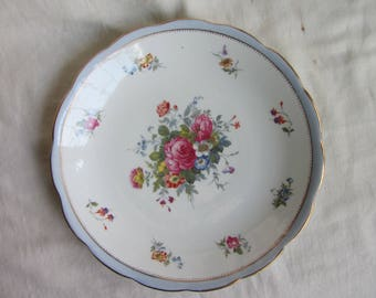 Vintage Grosvenor China Jackson and Gosling bone china cake plate , Ye Olde English, tea party, wedding, Downton Abbey, bridal shower, c1920