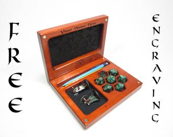 The Player's Vault V4, Accessory Holder, Dice, Dice Box, Dice Case, Dice Tray, DND, D20, Dungeons and Dragons, RPG, Pathfinder, Miniatures
