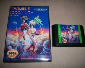 Trouble Shooter Troubleshooter Sega Genesis Reproduction Game Shmup