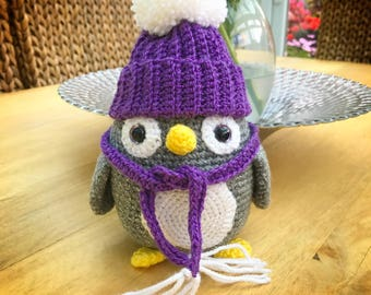 Sparkling penguin, Christmas , decoration , Amigurumi , crochet