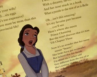 Sing-a-Long Disney's Beauty and the Beast Lyric Book