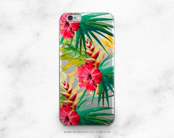 Tropical, iPhone Case, iPhone 5 5S 5SE 6 6S 7 7S Plus, Watercolor Illustration, Painting Artwork, Hawaiian Feel, Summer Phone Cover