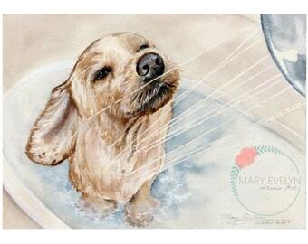 """5"""" x 7"""" Custom Watercolor Pet Portraits"""