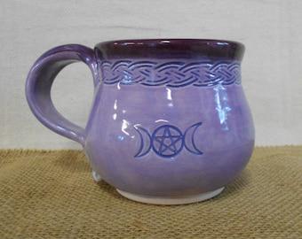 Triple Goddess, Triple Moon Pentacle Coffee Mug Tea Mug - Dishwasher and Microwave Safe