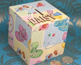 Personalised all things Baby Themed Money Box