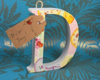 Baby Themed Wooden Free-standing Nursery Letters