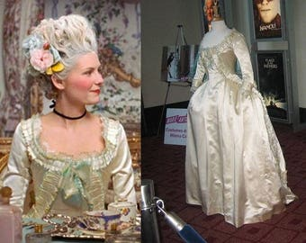 Marie Antoinette dress 18th century robe a l'anglaise zone front gown rococo versailles colonial georgian