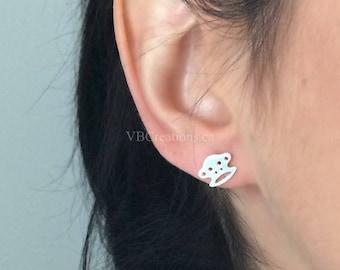 Mini Monkey Earrings - Monkey Jewelry - Children - Tiny Earrings - Minimalist Jewelry - Chinese Sign - Gift Ideas - Sister Gift - Dainty