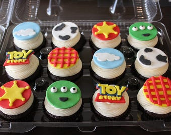 Toy Story inspired themed cupcake toppers