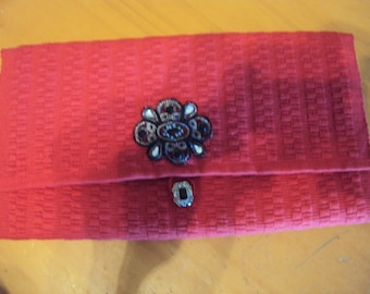 Red Clutch Purse/Bible Carrier 080