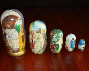 Jesus Biblical Russian Nesting Dolls