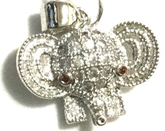 Cutest Elephant Earrings, Gift for Her, Lucky Earrings, Sparkling Platinum Earrings,On Trend Earring Gift, Anytime Gift,