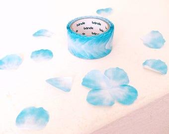 Pretty blue petals washi tape roll