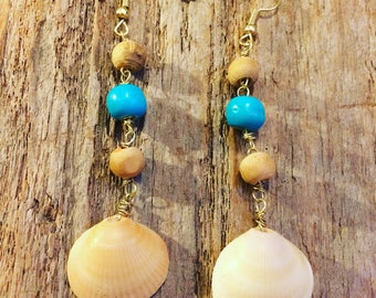 Shipwrecked shell earrings
