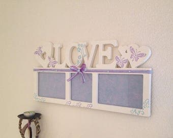 Love to lay or hang picture frame nursery baby boy girl