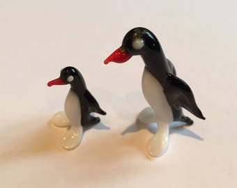 Miniture murano glass penguins collectable glass penguin. Glass Bird. Murano glass. Small glass penguin