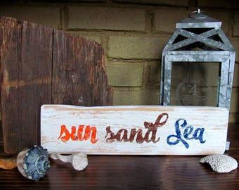 Beach House Decor Beach Signs Sun Sand Sea Sign Beach Sign Beach House Sign Beach Decor Surfing Signs Mermaid Sign Surf Sign #657