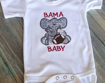 Alabama Baby Bodysuit- Boy Bama Baby