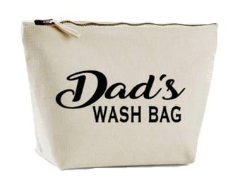 Dad's Toiletry Bag, Men's Wash Bag, Dad Gift, Wash Case, Shaving Bag, Shower Bag, Father Gift, Gift For Dad