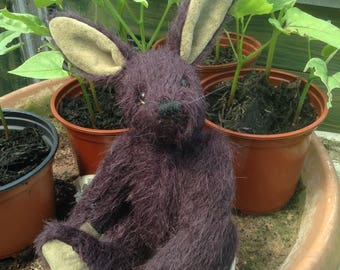 "Broc, a 7"" hand made collector's mohair hare"