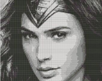 Wonder Woman - Diana Prince - Cross Stitch Pattern