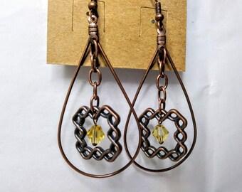 Framed Knot Earrings