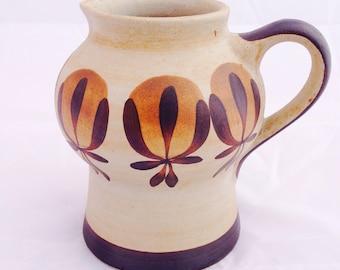 Sgrafo jug, Peter Muller, 60s 70s pottery, mid century jug, Art pottery, Vintage studio jug, German Sgrafo jug, home decor