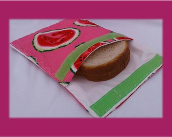 Sandwich Bag / Ecological Bag / Snack Bag / Snack Bag / Reusable Bag / Zero Waste / MOTIF: MELON