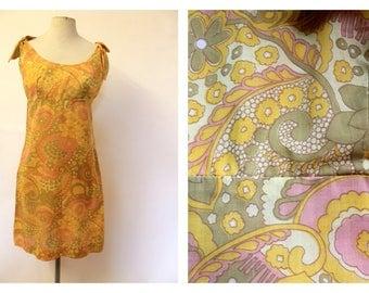 60's psych mod shift dress
