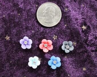 Add Glitter Flowers