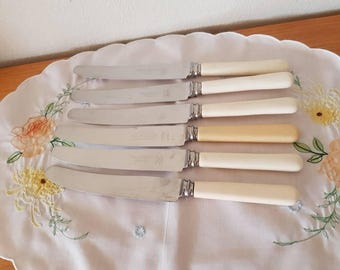 Sheffield Stainless Faux Handles Knives x6