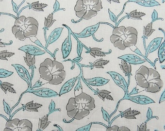 "Floral Print Fabric, Quilt Material, White Fabric, Sewing Crafts Accessories, 48"" Inch Cotton Fabric By The Yard ZBC8293B"