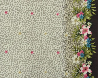 """Dressmaking Off White Fabric, Floral Print, Decor Fabric, Sewing Accessories, 42"""" Inch Cotton Fabric By The Yard ZBC4176"""